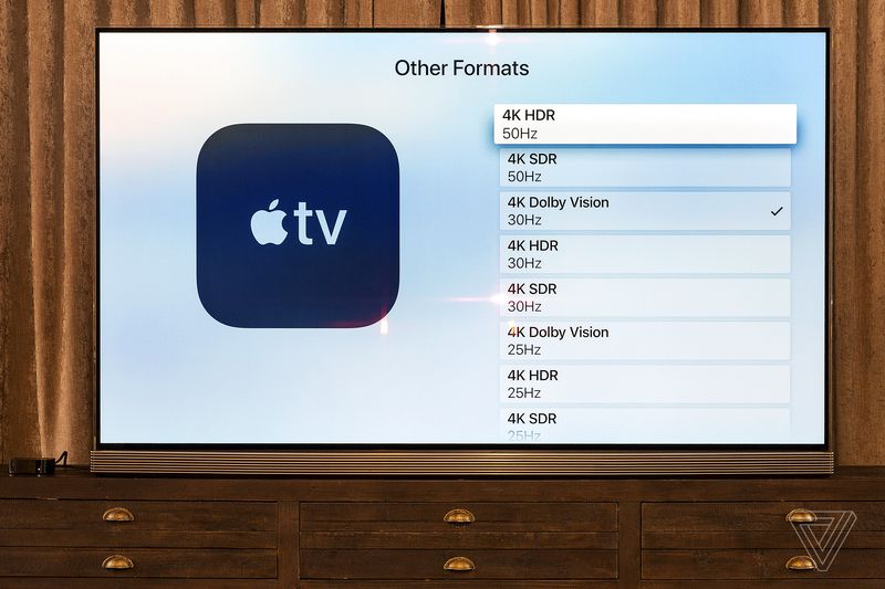 Apple TV 4K formats