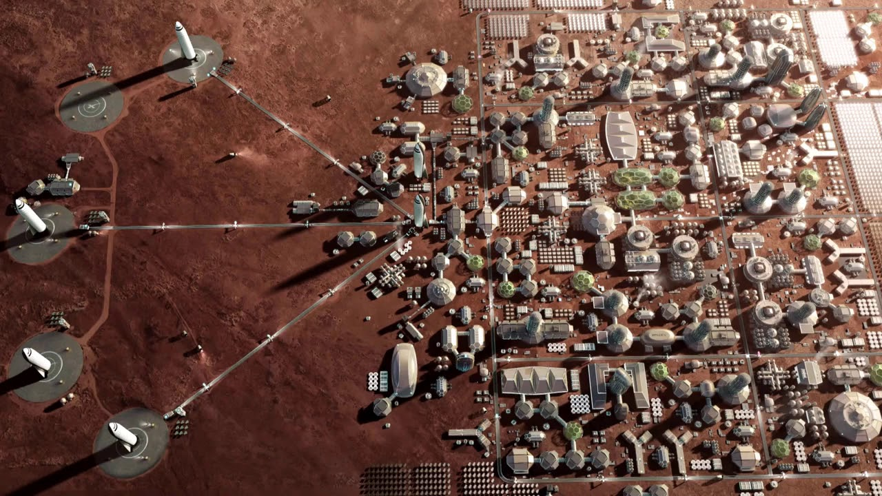 Mars SpaceX colony