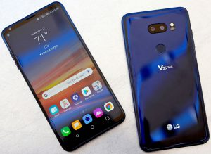 LG V35 THINQ front & back