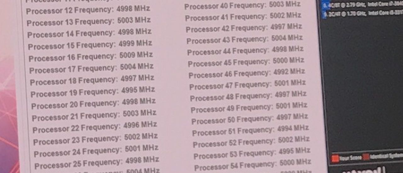 Intel 28 core 5 GHz