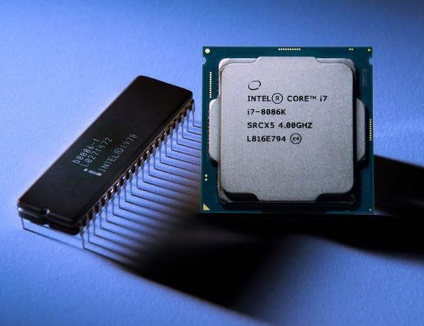 Intel 8086 vs Core i7-8086K