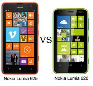 Lumia 625 vs Lumia 620