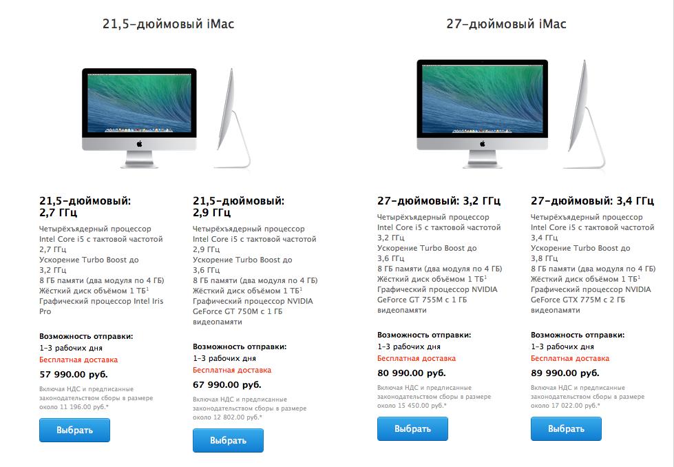 iMac (цена в России)