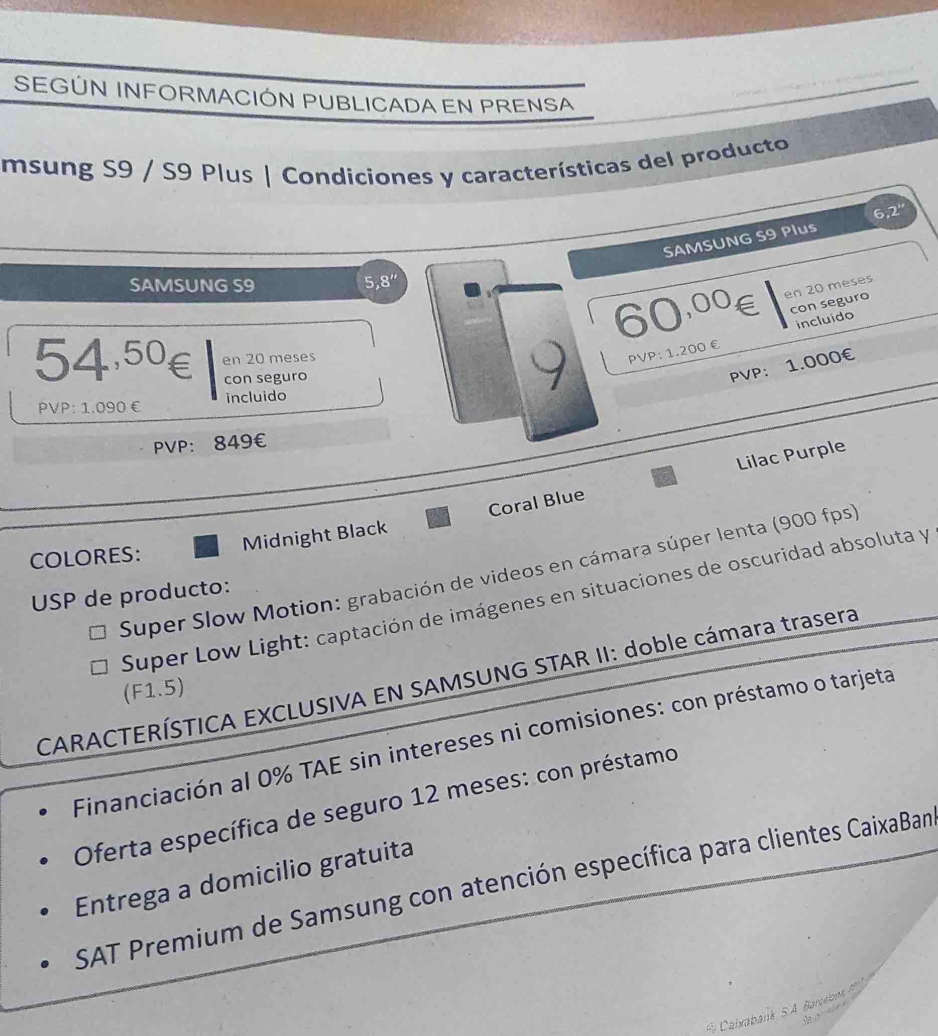 Galaxy S9 & Galaxy S9+ price