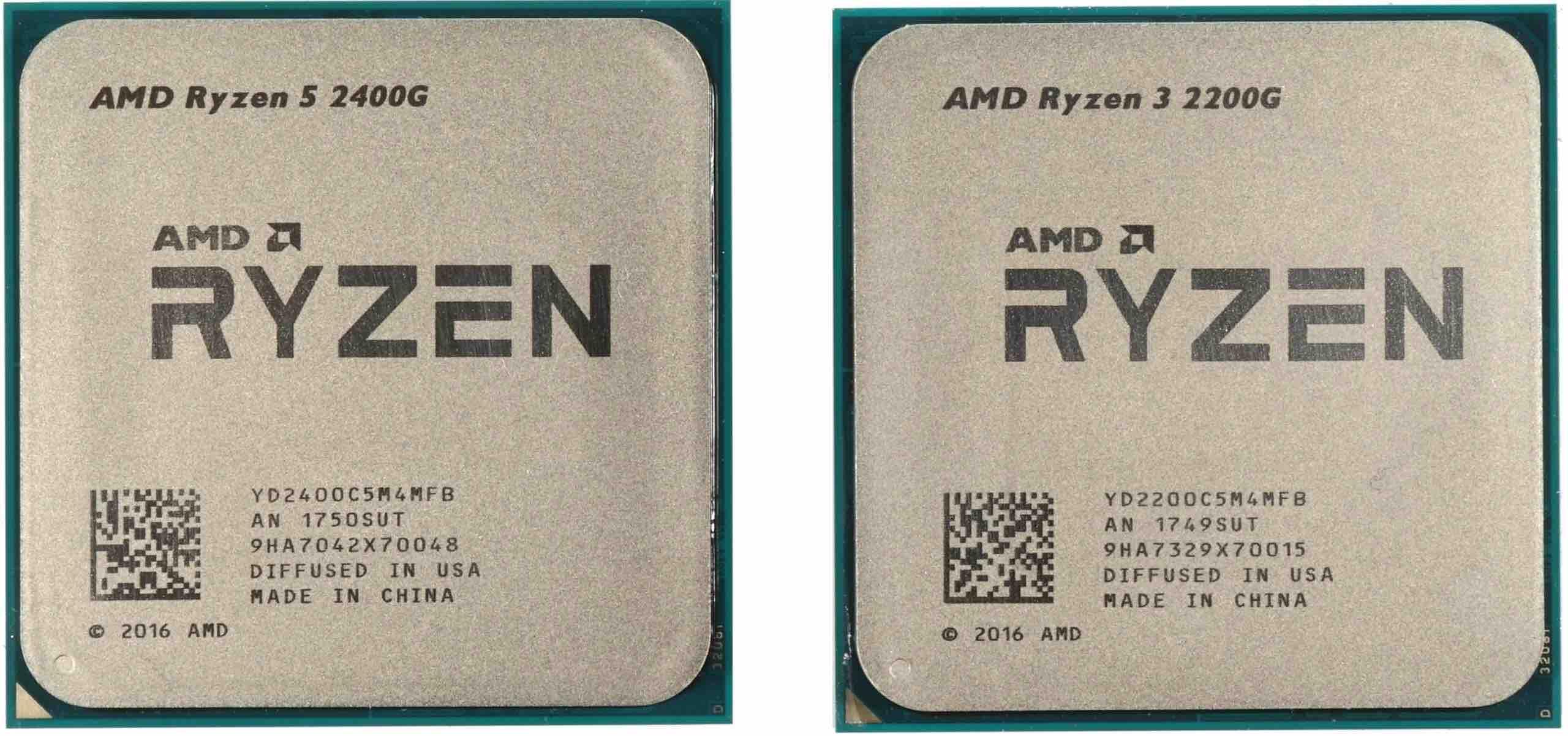Ryzen 5 2400G & Ryzen 3 2200G