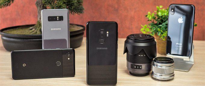 Galaxy S9+ vs Pixel 2 XL vs iPhone X vs Galaxy Note 8