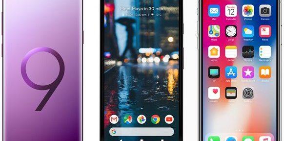 Galaxy S9+ vs Google Pixel 2 vs iPhone X