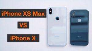 iPhone XS Max vs X